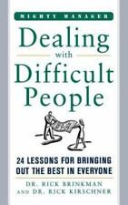 NEW Dealing with Difficult People by Rick Brinkman Paperback Book (English) Free