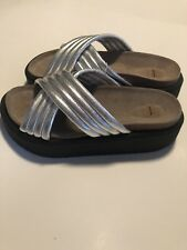 Metallic Sandals Made In Spain Size Eur 40, US 9.5