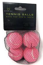Hyper Pet Tennis Balls For Dogs (Pet Safe Dog Toys for Mini - 4 Pack Pink