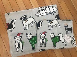 NEW Jingle & Joy Puppy Hand/Wash 2pc set towels E79