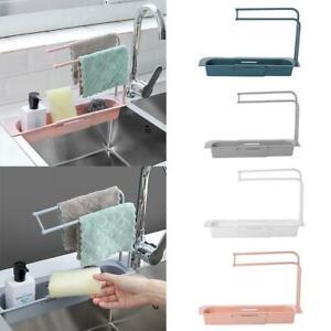 Telescopic Sink Rack Holder Expandable Storage Drain Basket Home Kitchen UK up