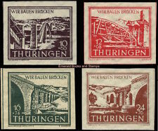 EBS Germany 1946 SBZ Thuringia Thüringen Bridge Reconstruction Miche 112-5 MNH**