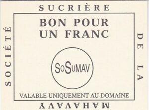 MADAGASCAR : 1 FRANC SUCRIERE DE MAHAVAVY NEUF - PIROT N°8