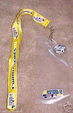 2007 World Series Ticket Holder Lanyard I WAS THERE Pin ROCKIES VS RED SOX