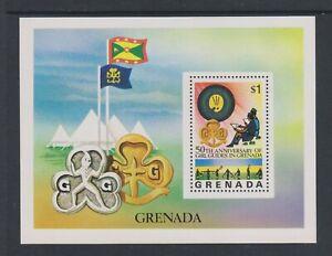 Grenade - 1976, Anniversaire De Fille Guides Feuille - MNH - Sg MS799