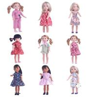 Robe en Tissu de Coton Ornement pour 14'' American Girl Wellie Wishers Dolls