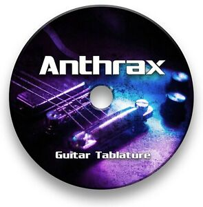 Anthrax Heavy Metal Guitar Tabs Tablature Lesson Software CD - Guitar Pro