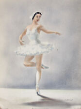Bernard Goldsmith 1953 Ballet Art Print BALLERINA RELEVE PASSE Signed by Cellini
