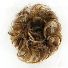 chouchou chignon cheveux châtain cuivré méché blond clair ref: 17/6bt27b