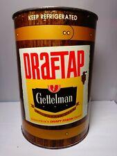Gettelman Draftap One Gallon Empty Beer Can #244-10 Milwaukee Wisconsin