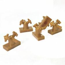 5 NEW LEGO Tap 1 x 2 with Dual Handles, Small Pearl Gold
