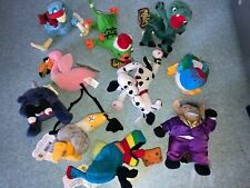 MEANIES PLUSH LOT OF 10 SERIES 1,2, AND INFAMOUS BEAN BAGS