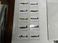 ROCKWELL BRIT.WARPLANES WW11 SET OF L10 INCLUDING TITLE CARD IN PKT TRADE CARDS
