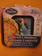 Disney Frozen Sandwich plastic containers 2 pack