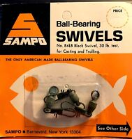 Sampo Ball Bearing Black 30-Pound Test Fishing Swivels