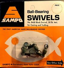 Vintage Sampo Ball Bearing Swivels No. B4LB Black Swivel 30 lb. test