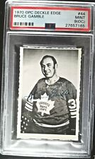 1970-71 O-Pee-Chee Deckle #44 Bruce Gamble Toronto Maple Leafs PSA 9 (OC) MINT