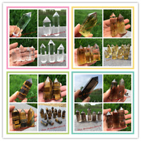 Natural crystal obelisk quartz wand rock tower reiki point healing