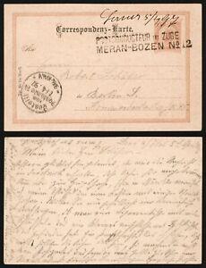 Austria 1897 - Postal Stationery to Berlin Germany - Railroad TPO D513
