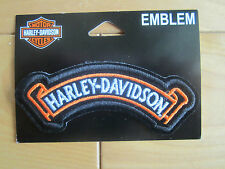 "Harley Davidson Small ""H-D Valiant Rocker"" Emblem Patch"