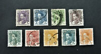 A set of 9 stamps King GHAZI, Kingdom of Iraq 1934