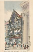 ALBANY NY – Hand Colored Postcard of Keeler's State Street Restaurant - udb