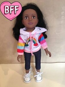"""18"""" Dolls Clothes Fits Design A Friend Girl Dolls . Dolls Rainbow Outfit."""