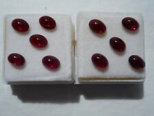 Garnet cabochon gemstone 7x5mm oval