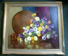 "ARTIST NELL WALKER WARNER  42"" x 48"" FRAMED STILL LIFE PAINTING, WELL LISTED"