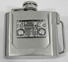 BELT BUCKLES western biker beverage beer liquor accessories FLASK buckle NWOT!