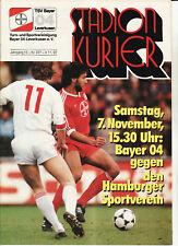 BL 87/88 Bayer 04 Leverkusen - Hamburger SV