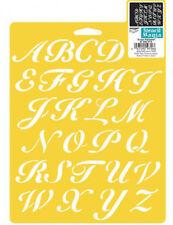 """1"""" SCRIPT STENCIL ALPHABET LETTER TEMPLATE LETTERS CRAFT PAINT ART NEW BY DELTA"""