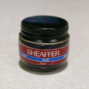 Vintage SHEAFFER Calligrapher Blue Skirp Ink Glass Bottle 12ml