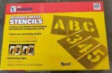 CH Hanson 10013 Stencil Set Numbers Brass