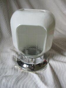 Vintage Mid-Century Modern Bathroom Vanity Light Fixture Glass Shade Sconce Swag