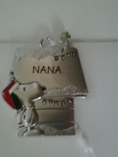 Santa SNOOPY WOODSTOCK Doghouse Pewter Christmas Ornament Choice A O Q S Z Z Dad