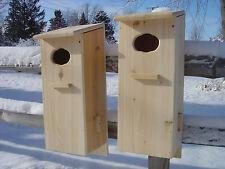 Wood Duck house, Goldeneye Mandarin Merganser Nest Box  ( 2 pack )