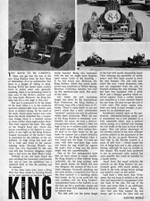 New! Vintage 1965 King Enduro Go-Kart Test Report 2 Pages