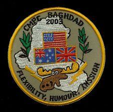 Australia British US Army CMPC Baghdad 2003 Desert Storm Patch S-8
