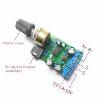 1x DC1.8-12V TDA2822M Amplifier 2.0 Channel Stereo 3.5mm Audio Board Module NT