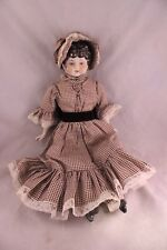 VINTAGE 1970'S ERA HANDMADE REPLICAS OF EARLY 1900'S GERMAN CHINA DOLLS