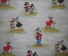 Disney Donald Duck Minnie Micky Maus Bettwäsche bedding Fabric Mouse Mickey 80s