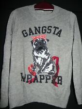 Gangsta Wrapper schöner Pullover von H&M, Pailletten , Gr. M