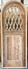 Rustic reclaimed lumber arched Dutch door solid wood story book castle winery