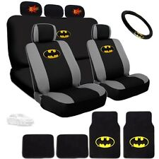 Ultimate Batman Seat Steering Mats & Classic BAM Headrest Covers Set For Toyota