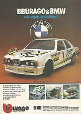 X0630 BMW 635 CSI GR.A - Bburago - Pubblicità del 1983 - Vintage advertising