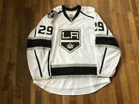 Lucas Lessio Game Used Worn Los Angeles Kings White Jersey NHL 50th Patch