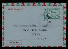 Burundi  air letter  sheet to  Belgium   1963       PS0415