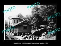 OLD LARGE HISTORIC PHOTO OF NUTTALL WEST VIRGINIA, THE RAILROAD STATION c1930