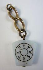 Antique Royal Arch Masons Keystone Masonic Opal Glass Watch Fob York Rite